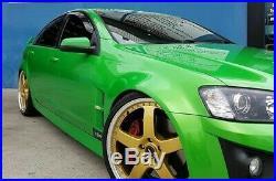 4x Genuine Simmons 22 Fr-1 Holden Vf Ve Staggered Wheels New Tyres Redline