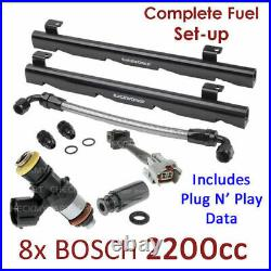 8X BOSCH 2200CC INJECTORS/FUEL RAIL SETUP For HOLDEN HSV COMMODORE SS GROUP A VN