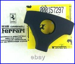Genuine Ferrari 348 black leather steering wheel centre horn pad. GTB GTS etc H5