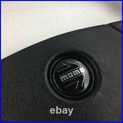 Genuine Momo Ghibli 4 360mm black leather steering wheel. Classic Retro 1995. 7A