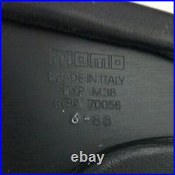 Genuine Momo Ghibli 4 380mm black leather steering wheel. Classic Retro 1988. 7A
