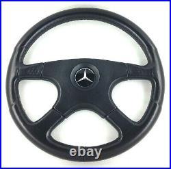 Genuine Momo Ghibli 4, 380mm black leather steering wheel. Mercedes. 7A