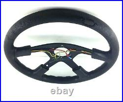 Genuine Momo Ghibli 4 380mm leather steering wheel dated 1993 for renovation! 7A