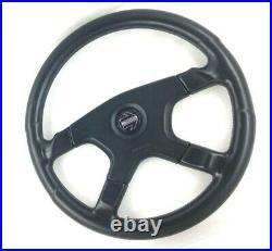 Genuine Momo Ghibli 4 M38 black leather 380mm steering wheel. Classic Retro 14A
