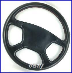 Genuine Momo Irmscher 4 spoke 380mm Black leather steering wheel. Rare 1994 7C