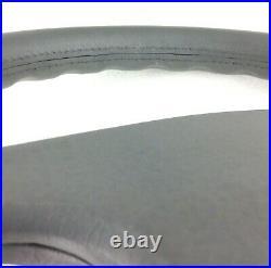 Genuine Momo Sport 380mm 4 spoke grey leather steering wheel. RARE! 7A