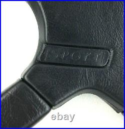 Genuine Momo Sport Jaguar 370mm 4 spoke black leather steering wheel. RARE! 7A