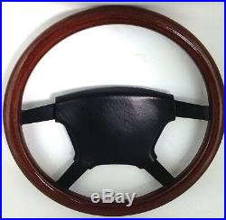 Genuine Momo wood 4 spoke 380mm steering wheel. Opel, Irmscher. Rare! 7E