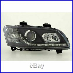 HEADLAMP HEADLIGHT ASSY'S FOR Holden HSV Commodore VE SS Black R8 LED DRL