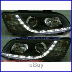 Headlamp Headlight Assy's for Holden HSV Commodore VE SS Black R8 LED DRL S2
