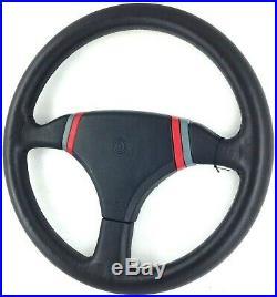 Momo Cobra 2 360mm black leather steering wheel. Genuine 1989. NEW OLD STOCK 18B