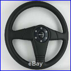Momo D36 360mm leather car steering wheel. Genuine. 1993 classic. RECONDITIONED