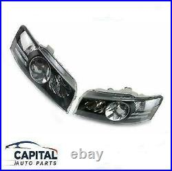 Pair of Black Headlights for Holden Commodore VZ SS/Calais/Crewman/HSV 2004-07