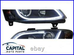 Pair of DRL LED Projector Headlights for Holden Commodore VE HSV/SSV/SV 2006-10