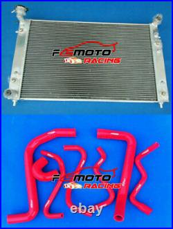 RED HOSE + Radiator For Holden Commodore VT VU VX HSV 3.8L V6 Petrol 97-02 AT