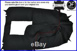 Red Stitch Centre Console Leather Cover For Holden Commodore Vr Vs Hsv Ss 93-97