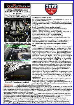 VE Holden Commodore & HSV V8 Orssom OTR Kit MAF Bundle with Infill Panel 11-13
