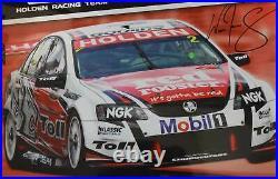 Will Davison Signed HRT Poster Holden VE Commodore Garth Tander HSV Mobil 1 Toll